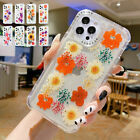Clear Floral Girls Women Shockproof TPU Phone Case Cover For iPhone 12 11 XR XS