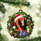 Flamingo and Christmas gift for her gift for him gift for Flamingo lover ornamen