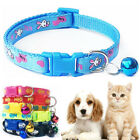 Pet Collar Cat Small Dog Kitten Puppy Printed Collars Adjustable With Bell