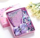 7pcs Kids Girls Mermaid Necklace Bracelet Coin Purse Set With Box Gift