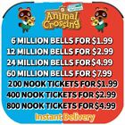 Bells, Nook Miles Tickets, Fish Bait All custom Items Fast Delivery:ACNH