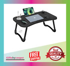 Laptop Bed Desk Portable Foldable Laptop Tray Table with USB Charge Port...