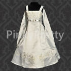Wedding Flower Girl Bridesmaid Dress w/ Shawl Satin A-line Size 2y-14y FG018S
