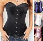*4 Color* Steel Gothic Overbust Burlesque Basque Corset