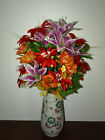 ******Beautiful silk flowers arrangment with vase******