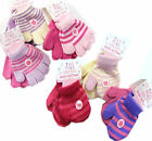 Children Magic Free Size Soft Finger Gloves Pink/Cream Lilac/Purple or Blue/Pink