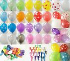 "5, 10, 25, 50 x 12"" HELIUM QUALITY PEARLISED LATEX BALLOONS OR POLKA DOT BALLOON"