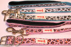 DESIGNER LEOPARD ANIMAL PRINT COLLAR & LEASH LEAD SET BABY BLUE OR BABY PINK WOW