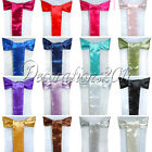 100PCS New Satin Chair Sashes Bows 15cm*275cm Wedding Party Decorations colors