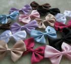 Upick 24/100pcs satin ribbon bows flowers for Appliques Crafts more colors E33