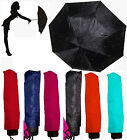 Diamante Crystal Covered Telescopic Umbrella Black Lilac White Turquoise orPink