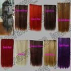 Long Straight 5 Clips On Hair Piece Extension All Color/Length Free Shipping 921