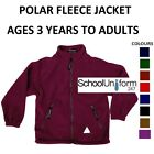 Polar Fleece Heavyweight School Jacket Boys Girl Reflectors Zip Pockets 3-20+yrs