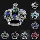 Crystal Rhinestone Silver Royal Crown Charms Pendant Bead Findings Fit Necklace