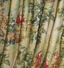 Custom Rod Pocket Gathered Drape Panel PAIR Covington  Bosporus Toi $475.0 USD on eBay