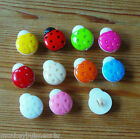 7 - Novelty Buttons - Ladybird - 15mm - Baby - Kids - Knitting/Sewing/Cards