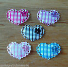 Padded Heart with Gem Flower - Applique - Topper - Wedding - Favour - Sewing