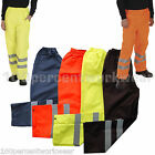 Hi High Vis Viz Visibility Work Wear Safety Over Trousers Waterproof Pants Yoko