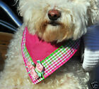 Spring Fever REVERSIBLE Pink Rose Dog Easter/Wedding/Dress Bandana Necktie Scarf