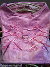 Pink Polyester Suede Walking Harness Vest + Pink Bows, Matching Lead & D-Ring