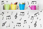 32 Music Notes Vinyl Kid's Room Laptop Car Fridge Wall Removable Stickers Decals