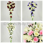 Wedding Flowers by Petals Polly, ARTIFICIAL/SILK BRIDES SHOWER/TEAR DROP BOUQUET