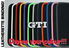 VW GOLF MK5 LUXURY tailored car mats LEATHERETTE + SILVER GTI BADGE + OVAL V95