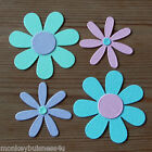24 - Flower Die Cuts - Flowers - 2 different designs - Topper - Party - Favour
