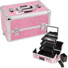 Sunrise Pink Crocodile 3 Extendable Mirror Makeup Train Case Box E Series E3305