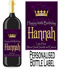 Personalised Bottle Label Birthday Gift Favour Wine, Spirit Or Champagne BDBL 2