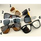 Thick Frame Square Dark Lens Sunglasses Leopard Mirror Sunnies Oversized Shades