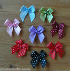 Polka Dot Ribbon Bow - 3 cm - Topper - Baby - Kids - Sewing - Cards/Scrapbooking