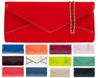COLOURS PATENT PVC ENVELOP BRISTAL PROM WEDDING EVENING CLUTCH HANDBAG