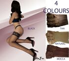 Quality STOCKINGS Stay Ups 3/4 Length 4 Colours 20 den Denier Sheer Retro Lace