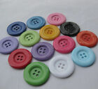 E354 Big Plastic Overcoat Button Cloth sewing Appliques Lots Upick 38/33mm 20pcs