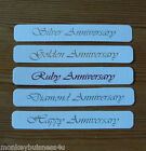 5 - Banner - Occaions - Anniversary - Silver - Ruby - Gold - Diamond Wedding