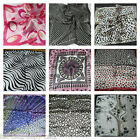 SMALL SOFT SATIN STYLE ANIMAL SPOTTED SUMMER COLOURS LADIES NECK SCARF UK SELLER