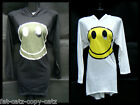 CASUAL LADIES FASHION SMILEY FACE LONGLINE SLEEVED & HOODED TOP T-SHIRT DRESS UK