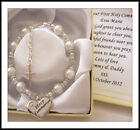 White 'Holy Communion' bracelet ,1st , gift ,First, silver plated boxed