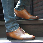 BELIVUS Sporty Shape Buffalo leather HANDMADE Wing tip Men's shoes/BS050/Browns