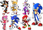IRON ON T-SHIRT FABRIC TRANSFER SONIC THE HEDGEHOG TAILS LOT SIN