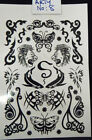 1x SHEET UNISEX MENS UNISEX TEMPORARY TATTOOS BLACK ARTY TIGER CELTIC DESIGNS UK