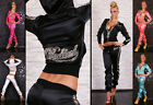 HOT & SEXY SATIN TRACKSUIT IN LEOPARD BY REDIAL HOODED GYM SUIT Size 8-12