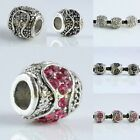 10/20/50/1​00PCS Austrian Crystal Flower Pistil Barrel Charm Beads Fit Bracelet