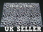LARGE FURRY FABRIC BROWN ANIMAL PRINT CRAFT MOBILE SKIN DECAL STICKER 28cmx19cm