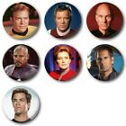 "Star Trek Captains - 25mm, 1"" Button Badge (Various) on eBay"