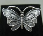 STYLISH STERLING SILVER RING BUTTERFLY SOLID 925 NEW SIZE A - Z EMPRESS R001115
