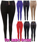 NEW LADIES HIGH WAISTED SLIM FIT SKINNY JEANS WOMENS TROUSERS SIZES 6 8 10 12 14