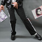 Michael Jackson Billie Jean Black Pants w/ White Bar MJ Costume replica MJBPW
