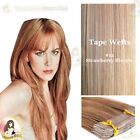 """Indina Remy Tape/Skin Weft Black Brown Blonde Red Colour 20"""" 20pcs"""